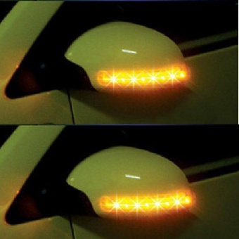 New Car 2x Amber SMD 13LED 12V Rearview Side Mirror Turn SignalLights - intl Price Philippines