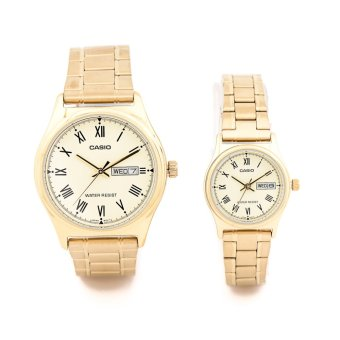 New Casio Roman Numerals Stainless Steel Watch fotr Couple Pair MTP/LTP-V006G