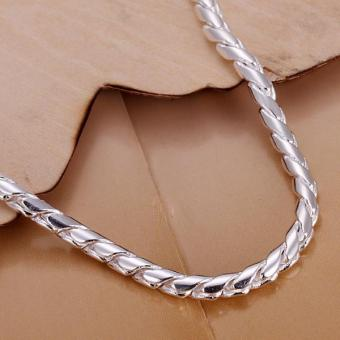 New Fashion Jewelry 925 Sterling Silver Twisted Rope Chain BraceletFor Unisex Man Women Gift - intl - 2