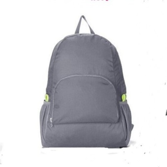 New Lightweight Nylon Travel Backpack Waterproof Soft Foldable Shoulder Bags Sports Bagpack (Grey)