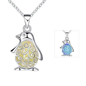 New Magical Glow in the Dark Luminous Cute Small Penguin Pendant Necklace - intl