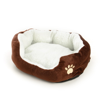 New Pet Dog Cat Fleece Warm Bed Kennel Plush Mat Cushion Pad MediumWashable