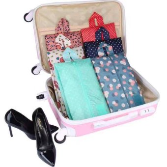 New Portable Travel Tote Shoe Pouch Storage Bag - AssortedMulticolor- Set of 1