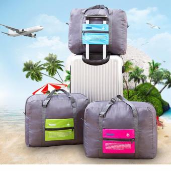 New Style Aircraft Bag Portable Large-capacity Hand Luggage StorageBag Foldable Waterproof Handbag Travel Bag(Pink) - 2