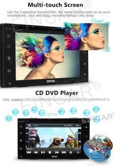 Newest Car Electronics 6.2 Full Touch Screen Car DVD Player Multimedia IN Dash GPS Navigation with Free 8GB GPS Map and Remote Control Car Charger Automotive Stereo System - intl - 4