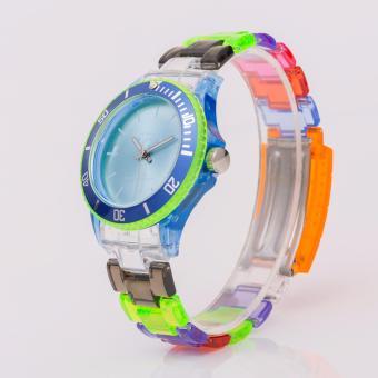 Newyork Army-102 Multicolor Transparent Watch - Aqua Dial - 2