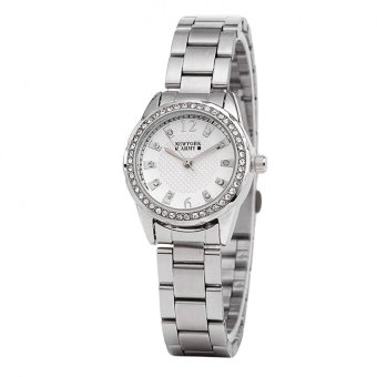 Newyork Army Crystal Studded Silver-tone Women's Watch NYA2022