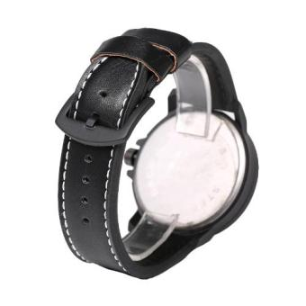 Newyork Army Day-Date Collection Men's Leather Strap Watch - NYA8940 White - 3