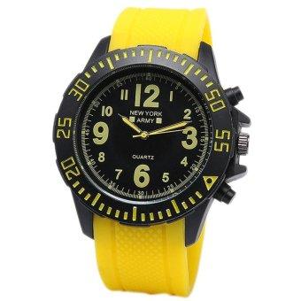 Newyork Army Men's Yellow Rubber Strap Watch - NYA 8801