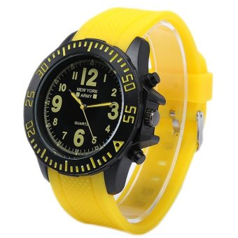 Newyork Army Men's Yellow Rubber Strap Watch - NYA 8801 - picture 2