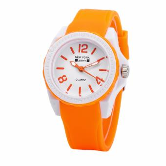 Newyork Army NYA1348 Jelly Silicone Ladies Watch - Orange Price Philippines
