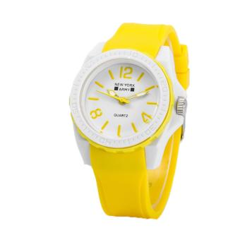 Newyork Army NYA1348 Jelly Silicone Ladies Watch - Yellow Price Philippines