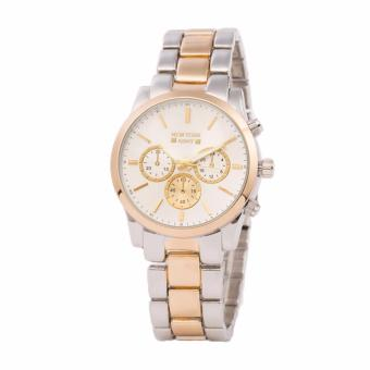Newyork Army NYA193 Two tone Dial Stainless Steel Strap Watch For Women