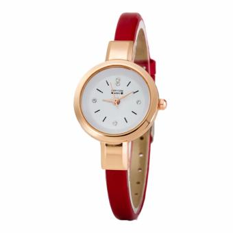 Newyork Army NYA236 5th Studs Red Leather Ladies Watch