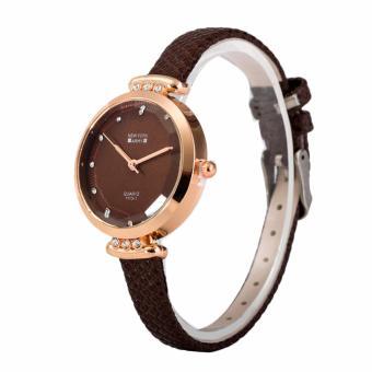 Newyork Army NYA238 Matching Dial Brown Leather Ladies Watch - 2