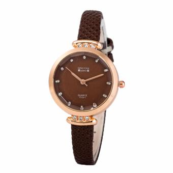 Newyork Army NYA238 Matching Dial Brown Leather Ladies Watch