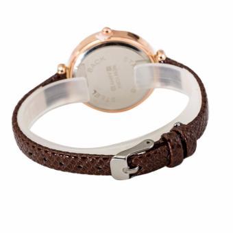 Newyork Army NYA238 Matching Dial Brown Leather Ladies Watch - 3