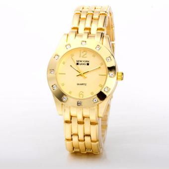 Newyork Army Oversized Feminine High-Shine Gold tone Watch NYA223