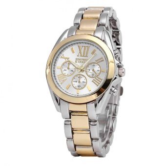 Newyork Army Oversized Roman Numerals Ladies Steel Watch NYA153 - TWO-TONE