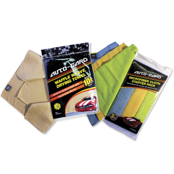 NFSC - Auto-Gard Waffle Weave Drying Towel with Microfiber Starter Pack