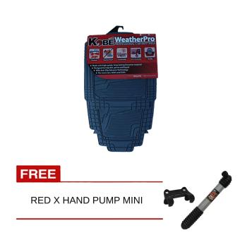 NFSC - Kobe WeatherPro Professional Car Matting (Grey) with Free Red X Hand Pump Mini