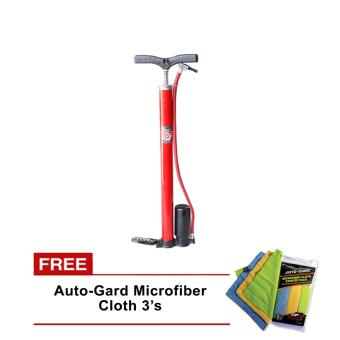 NFSC - Red X High Pressure Floor Pump With Free Auto-GardMicrofiber Cloth Price Philippines