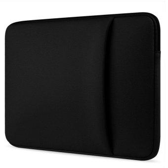 niceEshop 14 Inch Water Repellent Fabric Laptop Sleeve CaseNotebook Bag (Black) - intl - 2