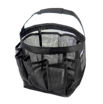 niceEshop Portable Mesh Shower Accessories Tote Organizer (Black)