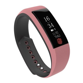 niceEshop W808S Smart Bracelet Waterproof Sports Wristband WithHeart Rate Monitor Pedometer Bluetooth Fitness Tracker For IPhoneAnd Android Phone(Pink) - intl