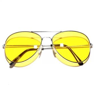 Night View Glasses Turn Night Into Bright for Fashion Men (Yellow) Price Philippines