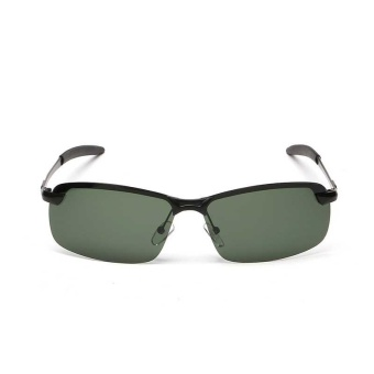Night Vision Men Driving Sunglasses Polarized Sun Glasses Enhanced Light Oculus Alloy Frame - intl
