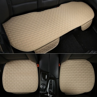 No back car cushion, single piece, three piece set, free strap,anti-skid pad, four seasons, general linen, automobile supplies,cushion - intl