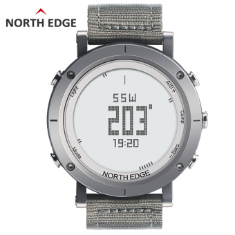NORTH EDGE Digital Watches Men Watch with Heart rate monitor Compass Altimeter Barometer Thermometer Altitude for Climbing Hiking Fishing Running Outdoor sports waterproof 50m
