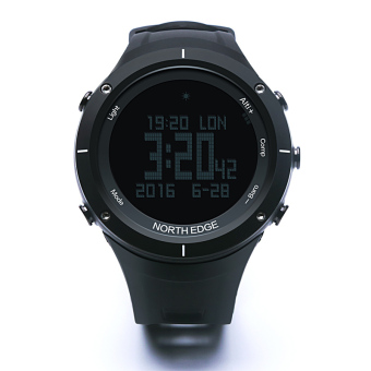 NORTH EDGE Digital Watches Men Watch with Heart Rate monitor Compass Altimeter Barometer Thermometer Altitude for Climbing Hiking Fishing Running Outdoor sports waterproof / Black screen - 2