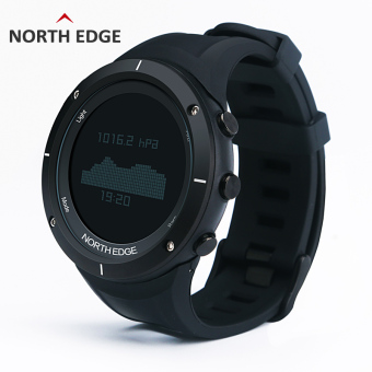 NORTH EDGE Digital Watches Men Watch with Heart Rate monitor Compass Altimeter Barometer Thermometer Altitude for Climbing Hiking Fishing Running Outdoor sports waterproof / Black screen