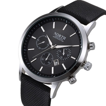 NORTH Men Watch Luxury Brand Fashion Male Wristwatch 30M Waterproof Sport Watch Casual Genuine Leather Quartz Business Watches 6009 - intl