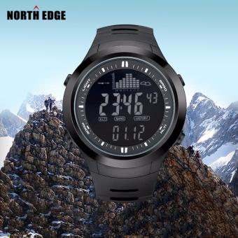 NORTHEDGE digital watches Men Watch with Weather forecast AltimeterBarometer Thermometer Altitude for Climbing Hiking Fishing Outdoorsports /Grey screen