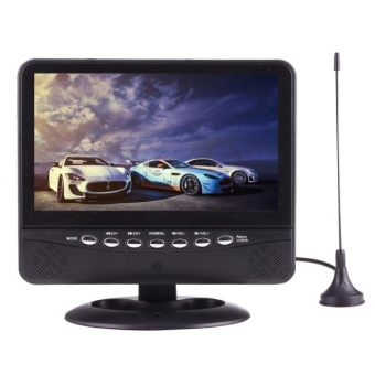 NS-701 7.5 Inch Car Monitor Portable TV Player With RemoteController, USB / SD (MP5) Interface, Support PAL-BG / DK / I / N /M, NTSC-M, SECAM-BG / DK, SECAM-L(Black) - intl