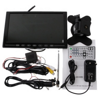 NS-901 9.5 Inch Car Monitor Portable TV Player With Remote Controller, USB / SD (MP5) Interface, Support PAL-BG / DK / I / N / M, NTSC-M, SECAM-BG / DK, SECAM-L(Black) - intl - 5