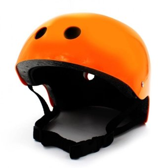 Nutshell Half Face Crash Safety Passenger Helmet (Orange)