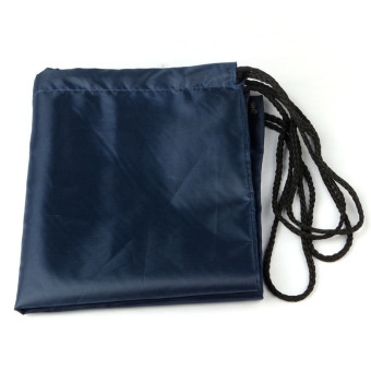 Nylon Drawstring Cinch Sack Sport Travel Outdoor Backpack Bags Dark Blue - 2