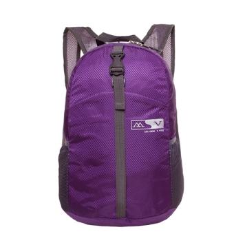 Nylon Waterproof Sports Folding Backpack (Purple)