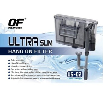 Ocean Free Ultra Slim Aquarium Hang On Filter (US-02) 260 L/H 4.2Watts Price Philippines