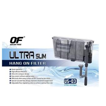 Ocean Free Ultra Slim Aquarium Hang On Filter (US-03) 300L/H 4.8Watts Price Philippines