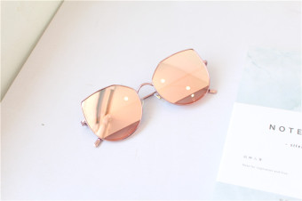 Ocean retro women round box Cat's Eye sunglasses sun glasses