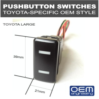 OEM Engineering PUSH BUTTON SWITCHES (Toyota Big 1's ) SPST on-offswitch Price Philippines