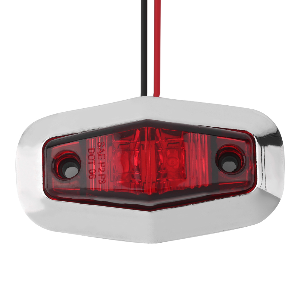 Philippines Oh 12v Led Trailer Car Truck Clearance Side Marker Leds On For Cars And Trucks Submersible Light Width Lamp Red
