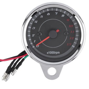 OH Motorcycle Backlight 12V Tachometer Speedometer Tacho Gauge 0-13000 RPM