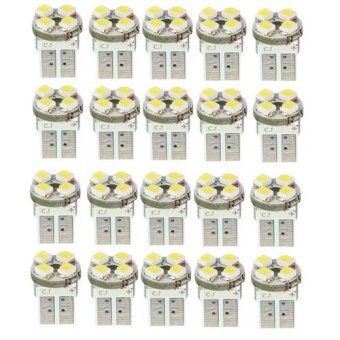Okdeals 20 x T10 194 W5W 4 LED Pure White Car Wedge SMD SMT Bulb Light