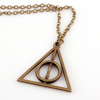 Okdeals Film Movie Harry potter Deathly Hallows Metal Necklace Pendant Bronze